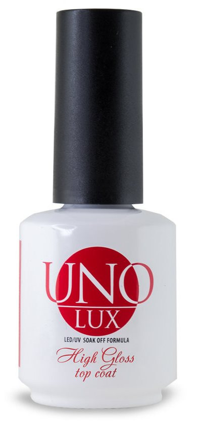 Верхнее покрытие UNO Lux High Gloss Top Coat, 15мл.